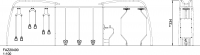 Тренажёр с колоколами, подвесами и вращательными элементами, со знаком безопасности