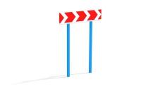 Знак-разметка направление на право