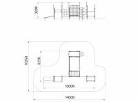 Спортивный комплекс Рукоход с вертикальной сеткой