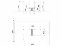 Лавочка для пресса и перекладины (ATRIX-GYM 19)