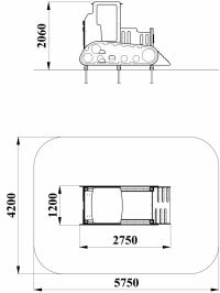Игровая мебель Бульдозер без горки