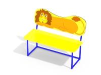Лавочка со спинкой Львенок