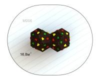 Куб двойной M 006