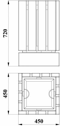 Урна деревянная на ж/б основании