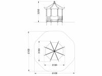Домик-беседка Пагода