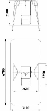 Качели платформа для коляски