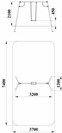 Качели с гибким подвесом (подвес в комплект не входит)