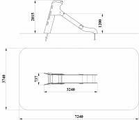 Горка с деревянными перилами H=1200