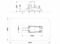 Игровая мебель Бульдозер с горкой