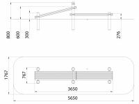 Скамья для пресса комбинированная (ATRIX-GYM 24)