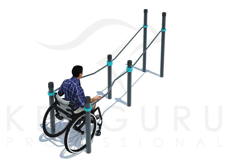 P-020. Брусья для инвалидов-колясочников в подъем