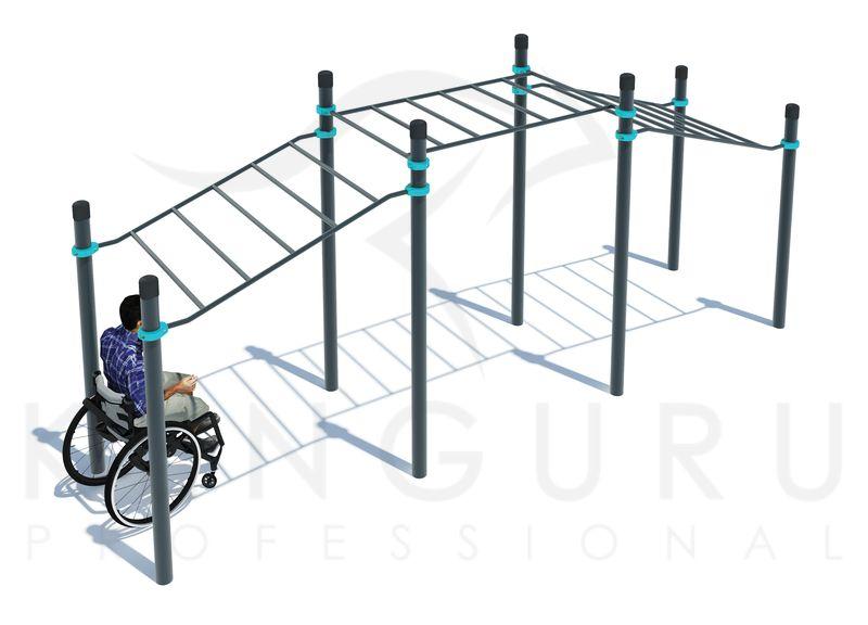 P-022. Рукоход трехуровневый для инвалидов-колясочников