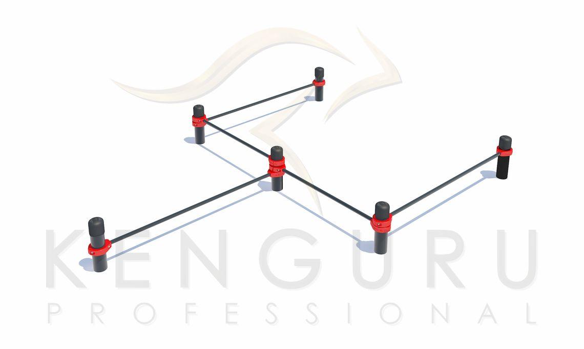 PK-002. Комплекс состоит из шести вертикальных опорных столбов