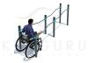 P-017. Брусья разноуровневые для инвалидов-колясочников