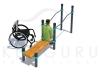 Брусья со скамьей для инвалидов колясочников