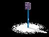 Знак Дорога с полосой маршрутных ТС в сборе