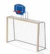 Гандбольные ворота с баскетбольным щитом (1шт.) без сеток