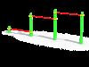 Тройной каскад турников для отжиманий (ATRIX-GYM 1)