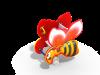 Качалка на пружине Пчелка