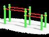 Брусья двойные для отжиманий разноуровневые (ATRIX-GYM 9)