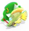 Качалка на пружине Рыбка