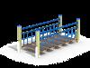 Подвесной мостик на столбах