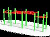 Рукоход классический двухуровневый и 6 турников (ATRIX-GYM 3)