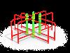 Брусья квадрат (ATRIX-GYM 27)