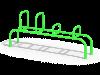 Лавка с упорами Воркаут (ATRIX-GYM 11)